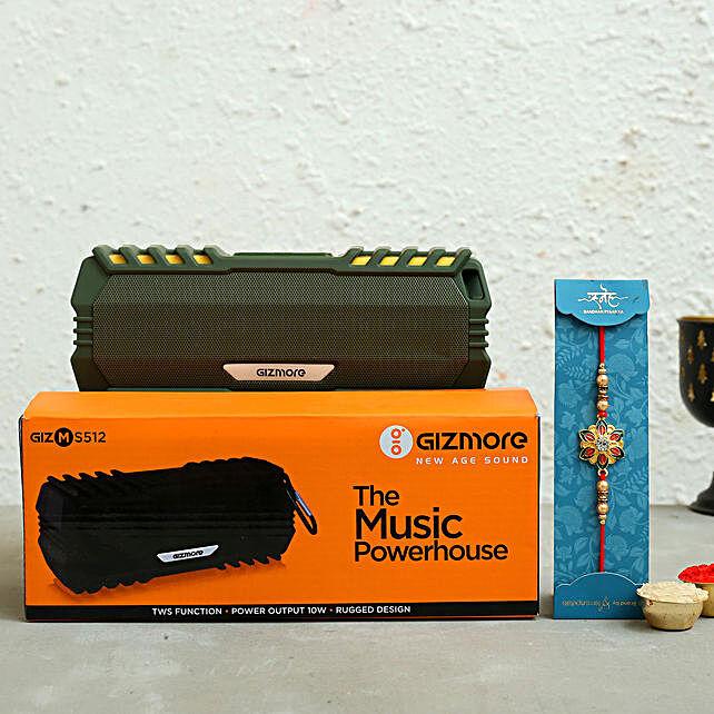 Meenakari Rakhi and Giz Portable Speaker Hamper