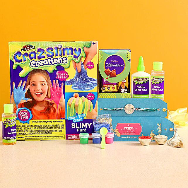 Mickey Rakhi N Cra Z Art Kit With Celebrations:Rakhi With Toys N Games