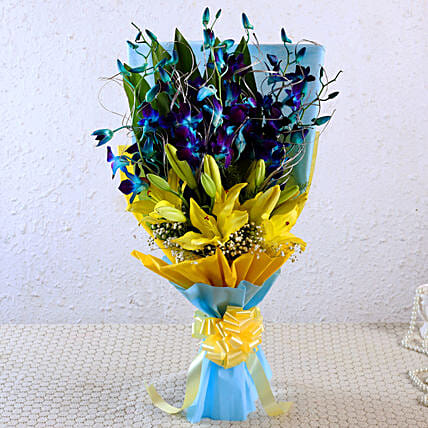Beautiful Orchids & Lilies Bunch