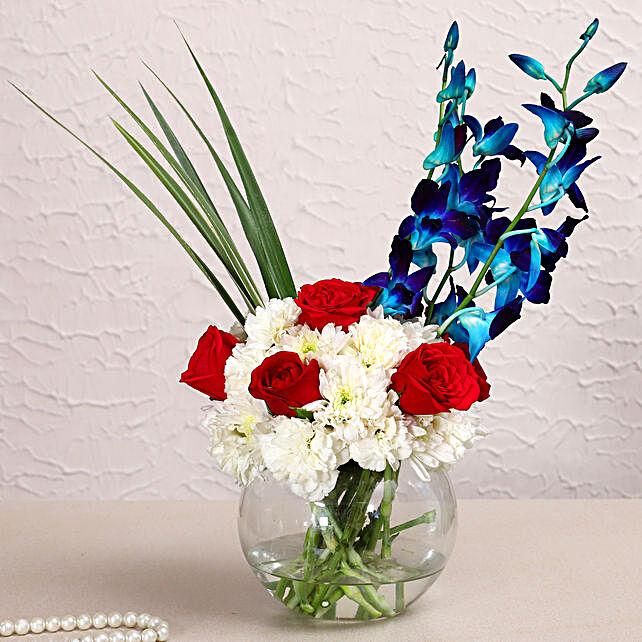 Colourful Mixed Flowers Arrangement