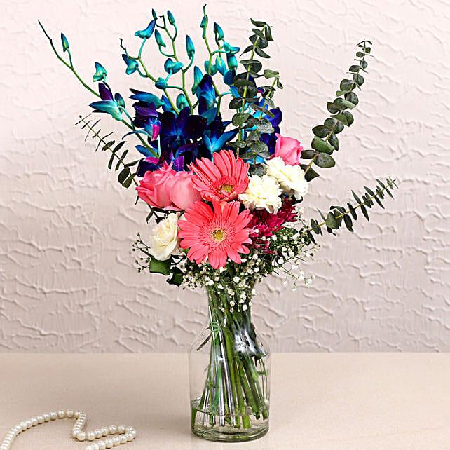 Tall Mix Flower Vase