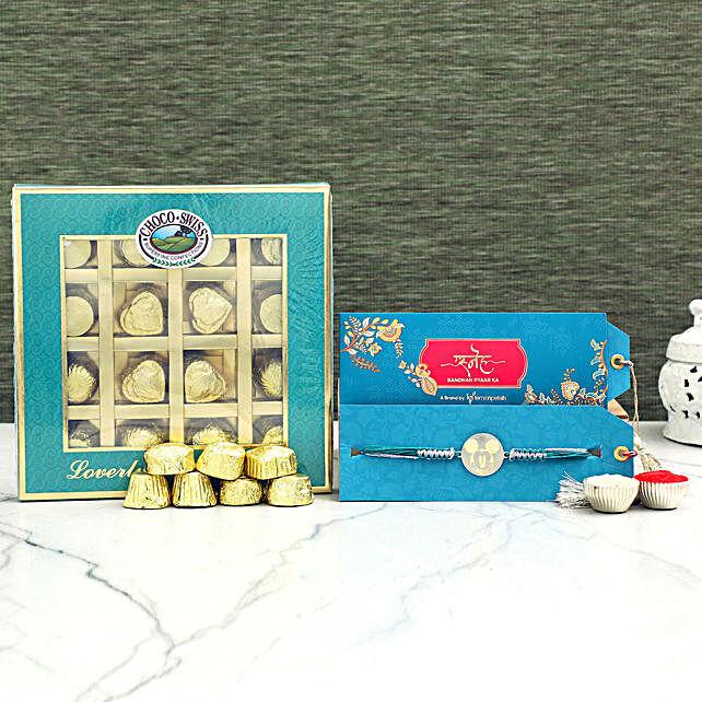 Cute Mickey Rakhi and Choco Swiss Chocolates