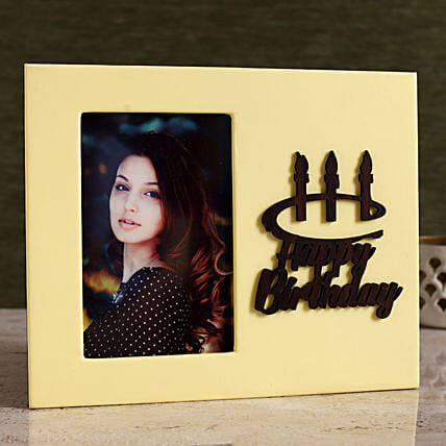 Personalised Happy Birthday Photo Frame