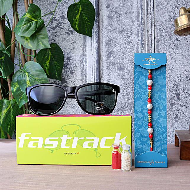 Pearl Rakhi N Fastrack Mens Sunglasses:Buy Sunglasses