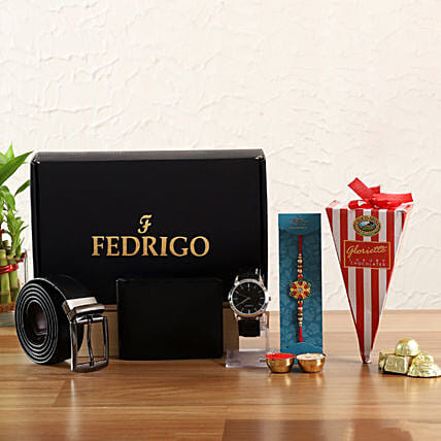 Beautiful Rakhi Fedrigo Mens Gift Set Hamper