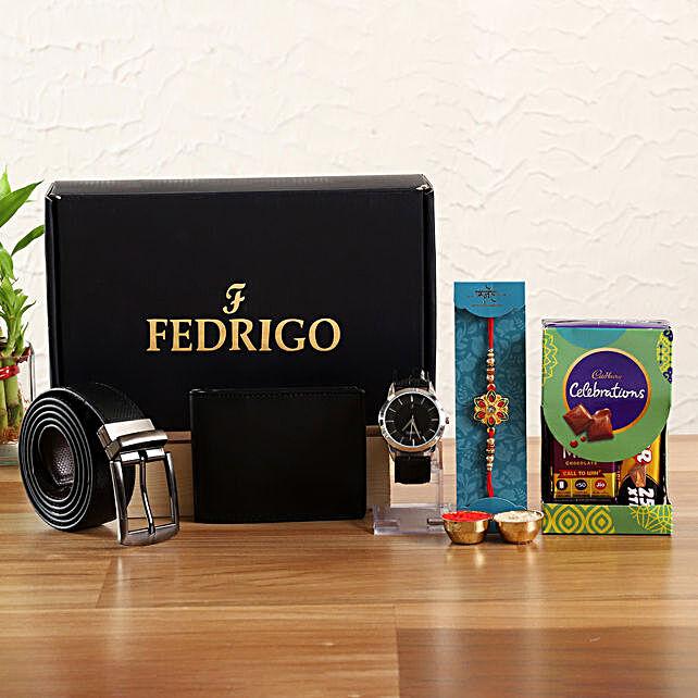 Ethnic Rakhi Fedrigo Mens Gift Set Hamper