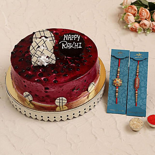 Set of 2 Rakhi N Blueberry Cake