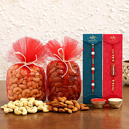 Order Capsule and Pearl Rakhis With Dry Fruits online