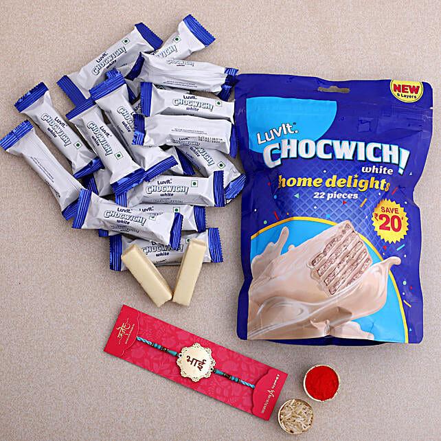 Bhai Metal Rakhi and LuvIt Chocwich Chocolates