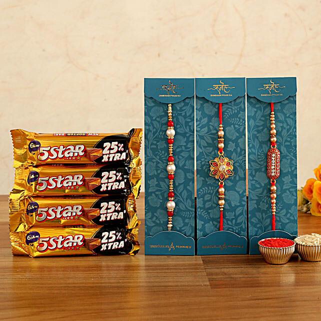 Beautiful Rakhis & Five Star Chocolates