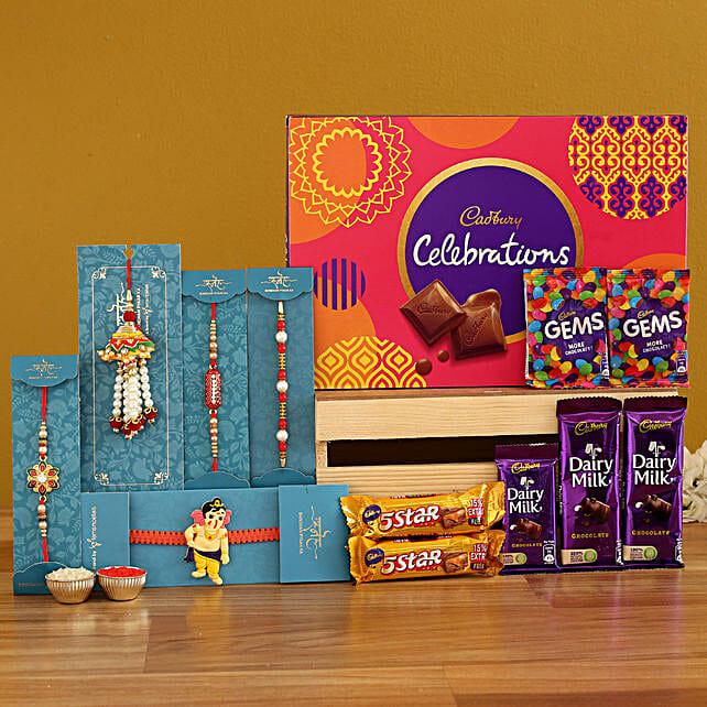 Celebrations Box Set Of 5 Rakhis