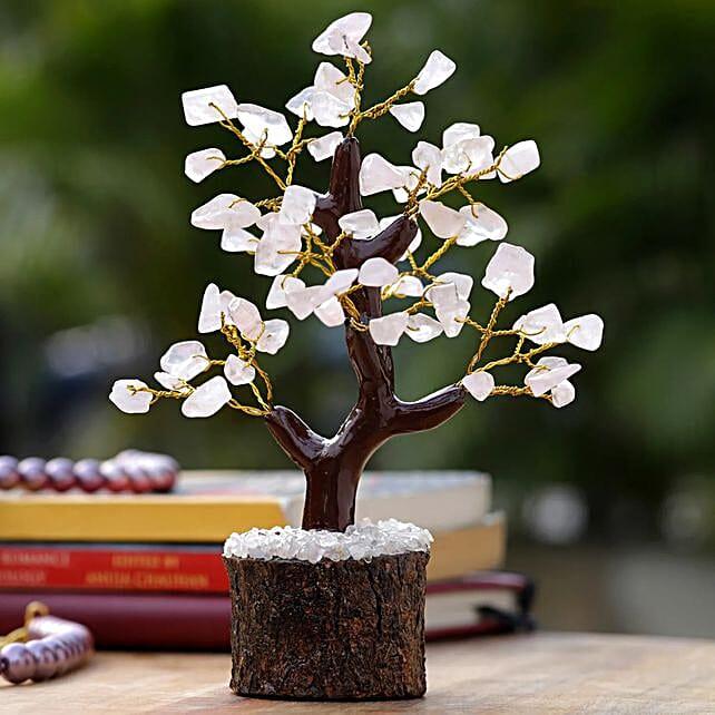 Mini Rose Quartz Wishing Tree:Buy Christmas Tree