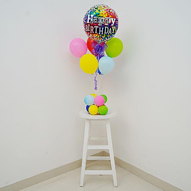 Colourful Happy Birthday Balloon Bouquet