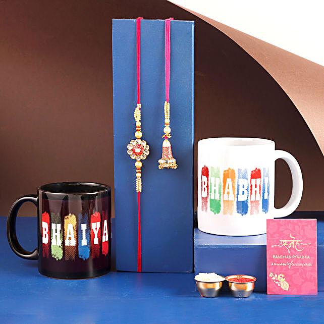 Bhaiya Bhabhi Rakhi and Mug Set Hand Delivery