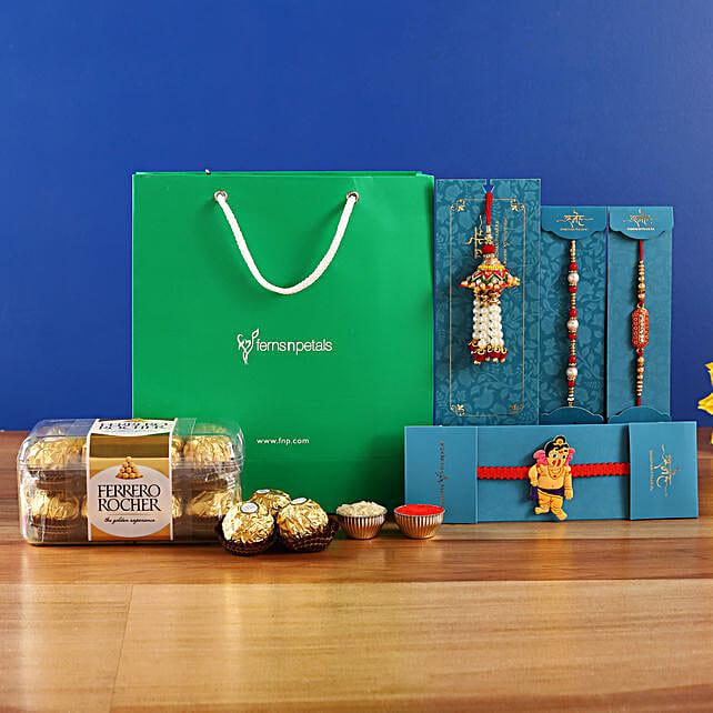 4 Traditional Rakhis and Ferrero Rocher