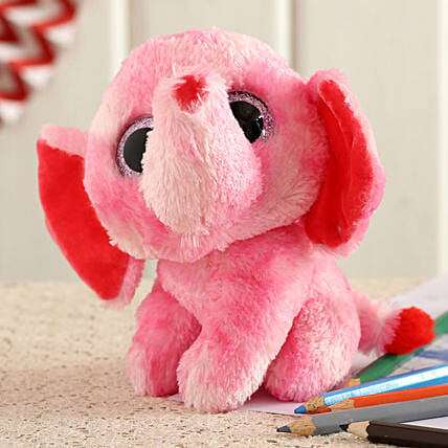 Wild Republic Pink Sassy Elephant Soft Toy:Soft Toy