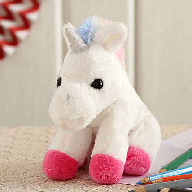 Wild Republic Plush White Unicorn Soft Toy:Soft Toy