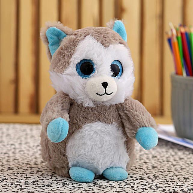 Wild Republic Sparkle Zoo Husky Soft Toy:Soft Toys