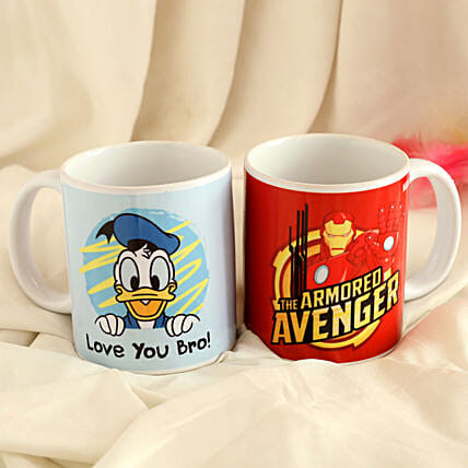 Donald Duck and Iron Man Mug Combo Hand Delivery
