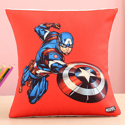 Marvel Captain America In Action Cushion Hand Delivery