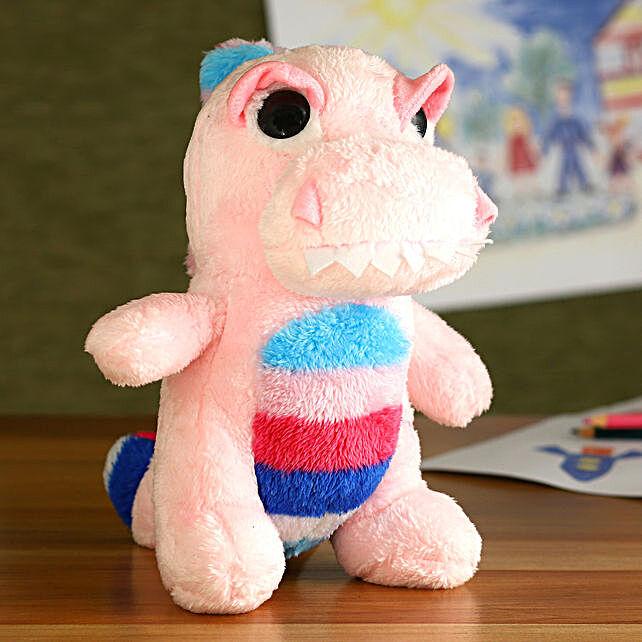 Mirada Pink Polyester Dinosaur Soft Toy