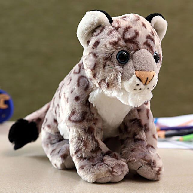 Wild Republic Grey Baby Snow Leopard Soft Toy