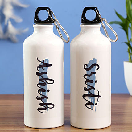 Personalised Water Bottle Set Hand Delivery