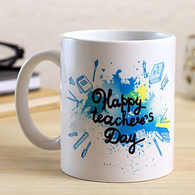 Happy Teachers Day White Mug:Teachers Day Gift Ideas