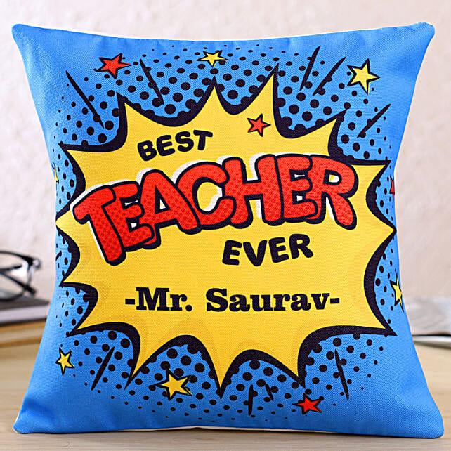 Teachers Day Theme Personalised Cushion