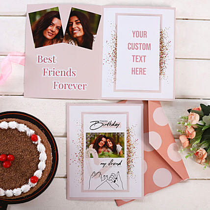 Personalised Beige And White Birthday Greeting Card