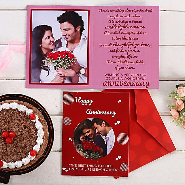 Personalised Dark Red Anniversary Greeting Card