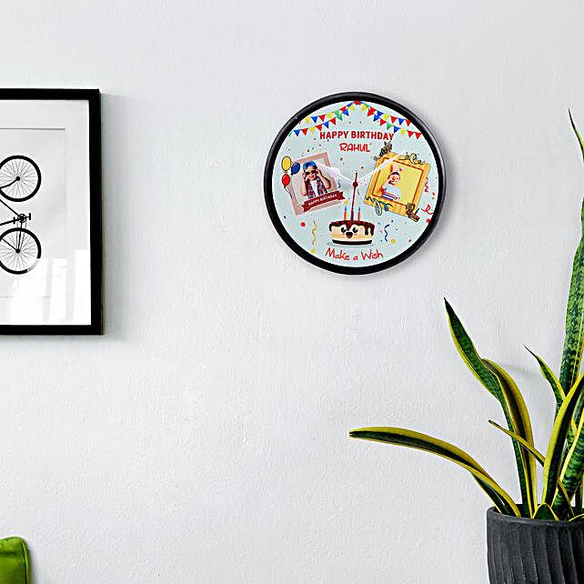 Personalised Happy Birthday Wall Clock