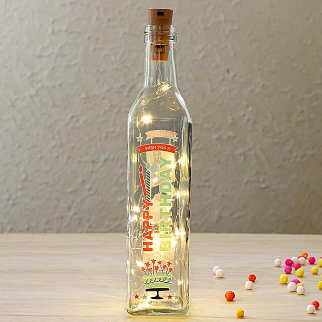 Personalised LED Bottle Lamp:Personalised Lamps