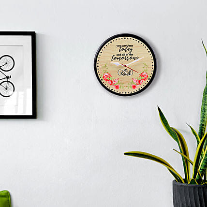 Personalised You Are My Today and Tomorrow Wall Clock