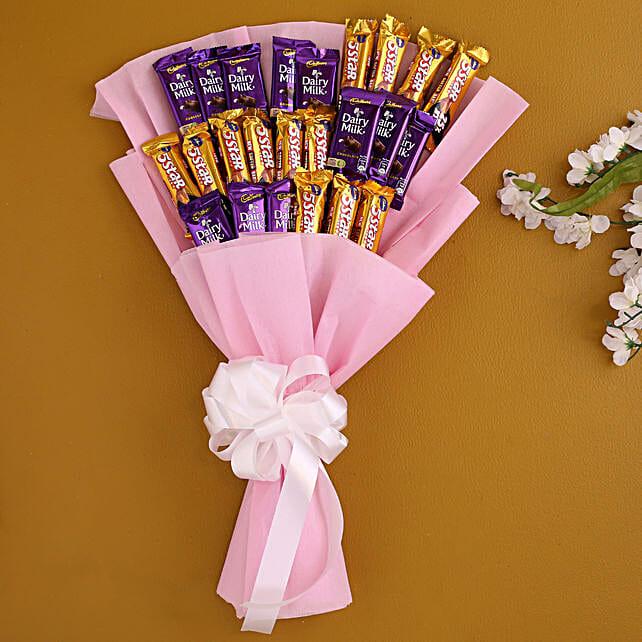 Assorted Cadbury Chocolates Bouquet:Order Chocolates