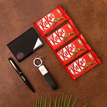 Pennline Gift Set and Kitkat Chocolates:Stationery Gifts
