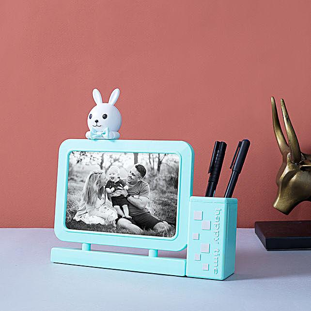 Personalised Bunny Photo Frame Cum Pen Holder