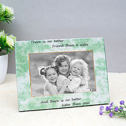 Personalised Wooden Green Photo Frame:Thank You Photo Frames