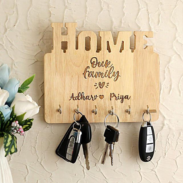 Personalised Wooden Key Holder