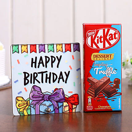 Birthday Special Table Top & Kitkat Chocolate