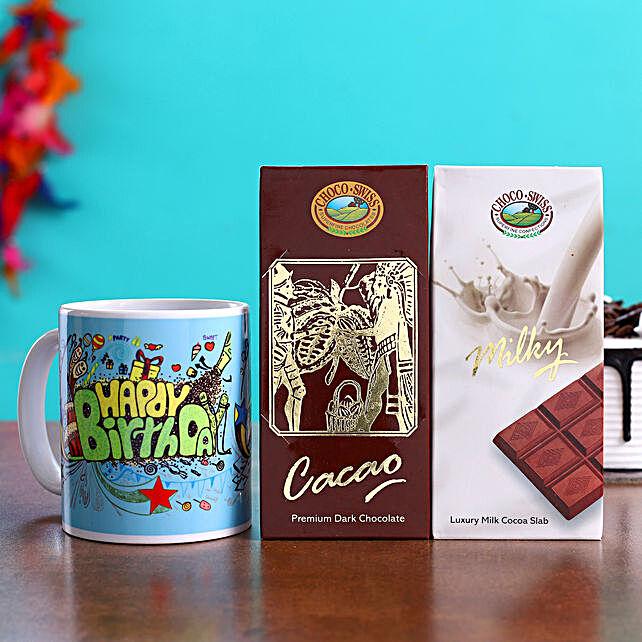 Happy Birthday Mug & Choco Swiss Chocolates