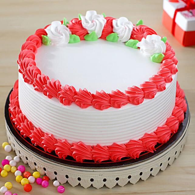 Ambrosial Vanilla Cake:Eggless Cakes