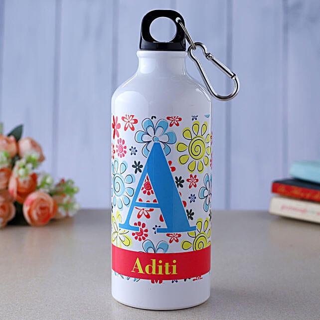 Personalised Best Floral Water Bottle:Personalised Water Bottles