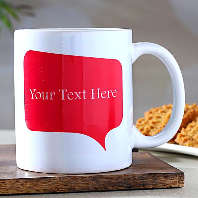 Personalised Message White Mug- Hand Delivery:Customised Coffee Mug