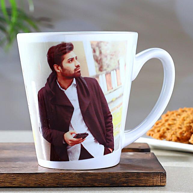 Personalised White Conical Mug