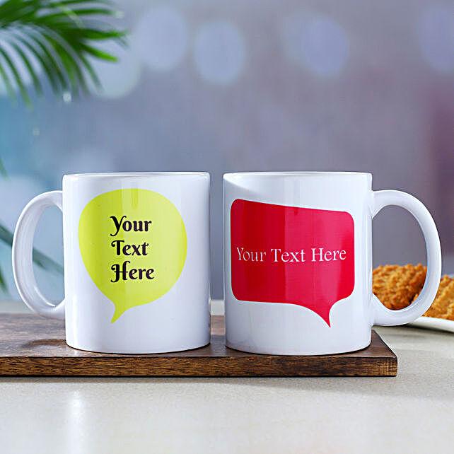 Set Of 2 Personalised Message Mugs