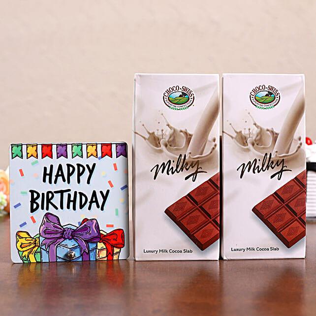 Birthday Table Top & Choco Swiss Milk Bars