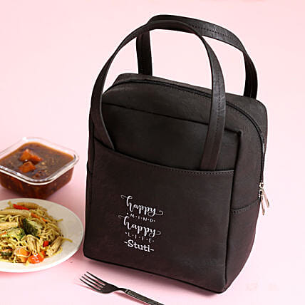 Personalised Black Lunch Box