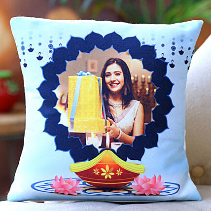 Diwali Special Personalised Cushion:Send Personalised Gifts for Diwali