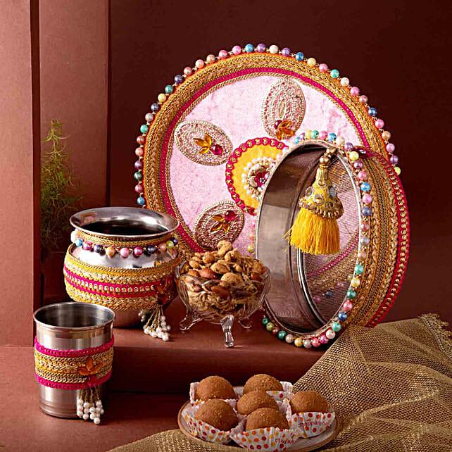 Karwa Chauth Thali Set and Sweet N Savoury Treats